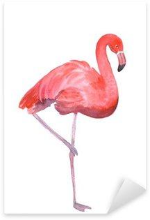 Pink flamingo isolated Sticker - Pixerstick