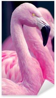 Sticker - Pixerstick Pink Flamingos