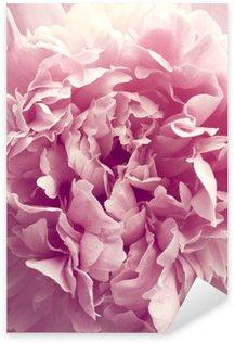 Pixerstick Sticker Pioenroos bloem