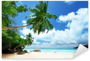Sticker Pixerstick Plage sur l'île de Mahé aux Seychelles