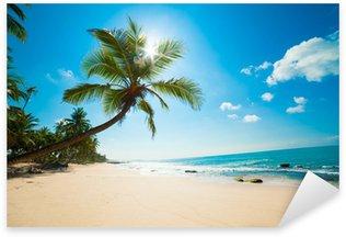 Sticker Pixerstick Plage tropicale au soleil