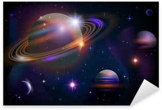 Sticker - Pixerstick Planets and space.