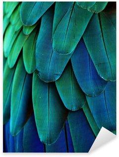 Sticker Pixerstick Plumes d'ara (bleu / vert)