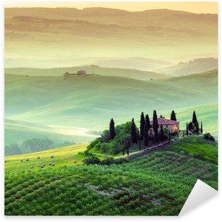 Sticker Pixerstick Podere in Toscana, paesaggio italiano