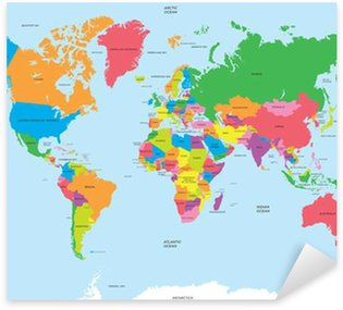 Pixerstick for All Surfaces Political map of the world vector