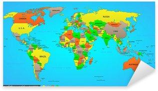 Sticker Pixerstick Political map world