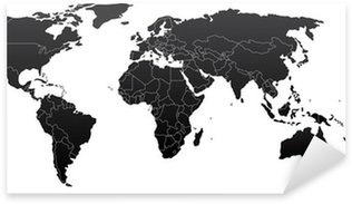 Pixerstick Sticker Politieke wereldkaart