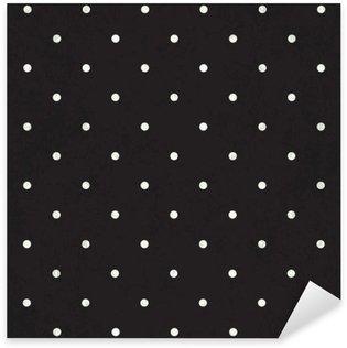 Sticker Pixerstick Polka dot noir fond