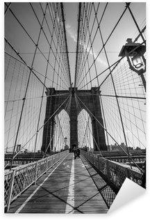 Sticker Pixerstick Pont de brooklyn noir et blanc
