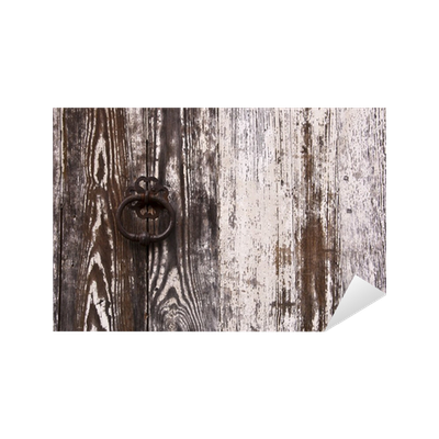 Sticker porte ancienne en bois peinture blanche pixers for Peinture pour porte en bois