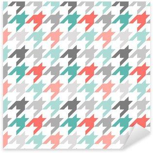 Sticker Pixerstick Poule, seamless, coloré