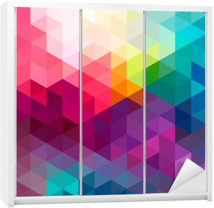 Sticker pour Armoire Abstract colorful seamless fond