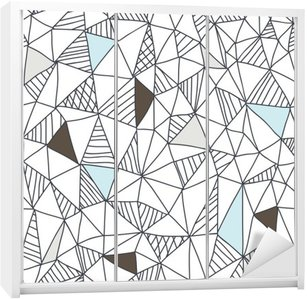 Sticker pour Armoire Abstract seamless pattern doodle