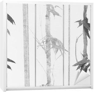 Sticker pour Armoire Bamboo texture