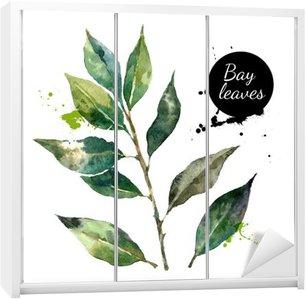 Sticker pour Armoire Cuisine herbes et épices bannière. Vector illustration. Aquarelle
