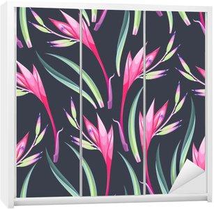 Sticker pour Armoire Fleurs Jungle transparente
