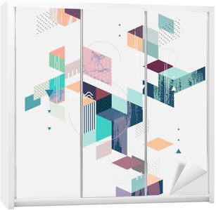 Sticker pour Armoire Résumé fond géométrique moderne