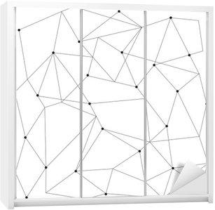 Sticker pour Armoire Scandinavian seamless moderne géométrique