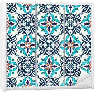 Sticker pour Armoire Vector seamless texture. Beau motif de couleur pour la conception et de la mode avec des éléments décoratifs