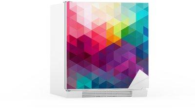 Sticker pour Frigo Abstract colorful seamless fond