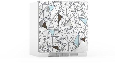 Sticker pour Frigo Abstract seamless pattern doodle