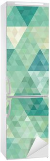 Sticker pour Frigo Arrière-plan transparent avec ornement géométrique abstrait