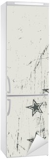 Sticker pour Frigo Étoiles sur la texture beige rayé. Vecteur