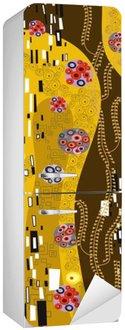 Sticker pour Frigo Klimt inspiré l'art abstrait