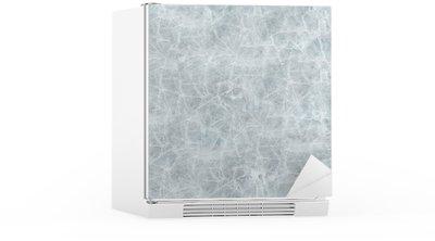 Sticker pour Frigo La couverture de glace de texture transparente.