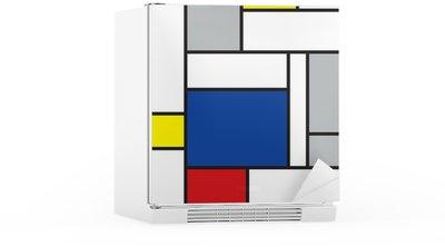 Sticker pour Frigo Mondrian a inspiré l'art