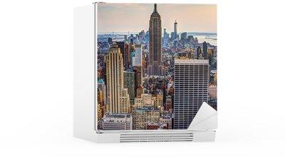 Sticker pour Frigo New York City au crépuscule