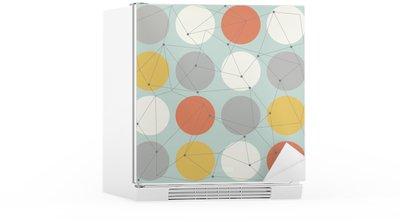 Sticker pour Frigo Scandinavian seamless moderne géométrique