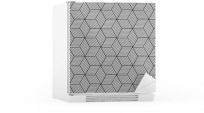 Sticker pour Frigo Seamless géométrique avec des cubes.