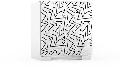 Sticker pour Frigo Seamless vintage pattern géométrique dans le style rétro des années 80, memphis. Idéal pour la conception du tissu, du papier d'impression et le site Web toile de fond. fichier vectoriel EPS10