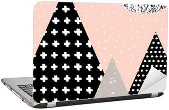 Sticker pour Ordinateur Portable Paysage abstrait géométrique
