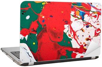 Sticker pour Ordinateur Portable Peinture abstraite vive