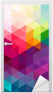Sticker pour Porte Abstract colorful seamless fond