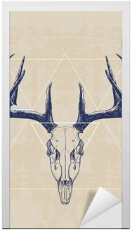 Sticker pour Porte deer skull