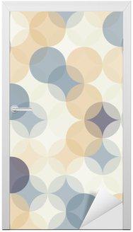 Sticker pour Porte Vector modernes colorés cercles de motif géométrique sans soudure, la couleur de fond géométrique abstrait, papier peint impression, rétro texture, design de mode hipster, __