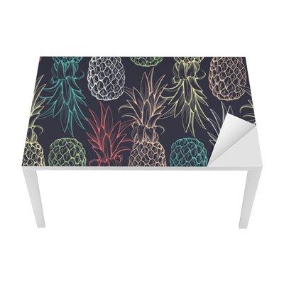 Sticker pour Table et Bureau Ananas seamless pattern