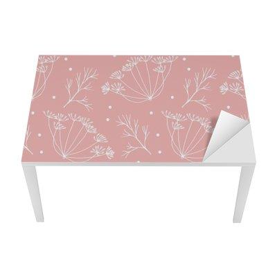 Sticker pour Table et Bureau Aneth ou fenouil fleurs et feuilles de motif.