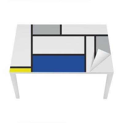Sticker pour Table et Bureau Mondrian a inspiré l'art