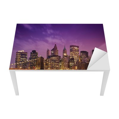 Sticker pour Table et Bureau New York Manhattan Pont de Brooklyn