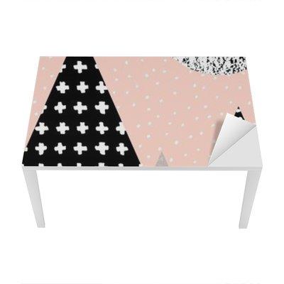 Sticker pour Table et Bureau Paysage abstrait géométrique