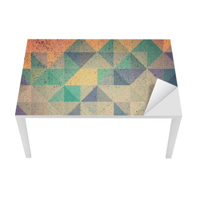 Sticker pour Table et Bureau Rose et violet triangle abstrait illustration