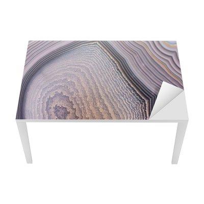 Sticker pour Table et Bureau Structure gris agate fond sombre