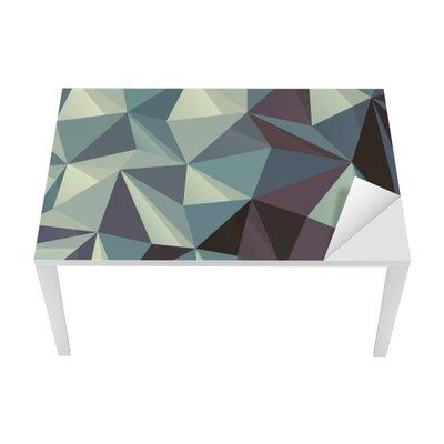 Sticker pour Table et Bureau Triangle motif géométrique abstrait