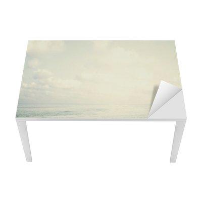 Sticker pour Table et Bureau Vintage plage tropicale en été