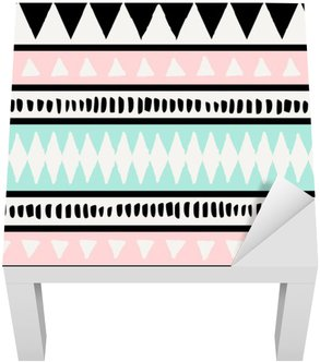 Sticker pour Table Lack Ethnic seamless pattern