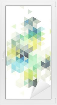 Sticker Vitre abstract low poly background, vector